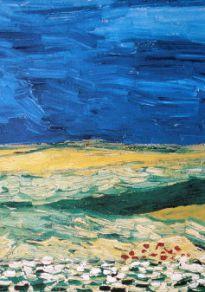 Cartel de la película Van Gogh de los Campos de Trigo bajo Cielo