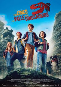 Cartel de la película Los cinco y el valle de los dinosaurios