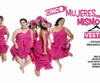 Cinco mujeres con el mismo vestido
