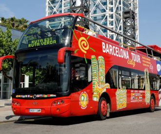 Hop On/Hop Off Barcelona City Tour-background